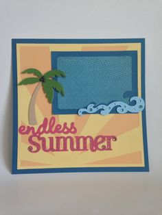 Courtney Lane Designs: Artbooking Endless Summer scrapbook layout.