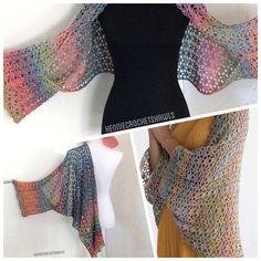 Poncho Knitting Patterns, Knitted Poncho, Knitted Shawls, Crochet Shawl, Crochet Lace, Crochet Pattern, Yohji Yamamoto, Collars, Lace Scarf