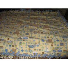 Baby Blue and Yellow Fleece Blanket Quilt