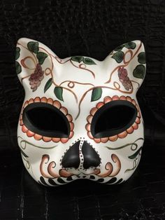 Grape Tree Dias De Muerto Cat Mask womens Mask Gato Halloween Party Mask -- You can find out more details at the link of the image.