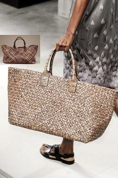 60ad8f31d120 Bamboo Woven bags - while i love he bag i see the sandal love that too