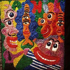 Hervé  Di rosa art Fair ART Paris 2o16. Broderie sequins