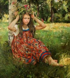 Natalya Milashevich Russian Figurative Artist, Children in Painting