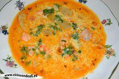 Sopa de pescado Kajsa con hinojo, tomate y azafrán.