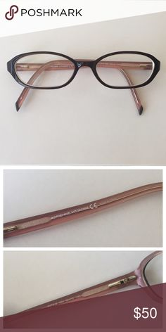 Adrienne Vittadini eyeglass frames Adrienne Vittadini eyeglass frames.  There are prescription lenses in these frames - you will need to go to a professional eyewear store to replace the current lenses with your desired lenses.  Never worn. Adrienne Vittadini Accessories Glasses