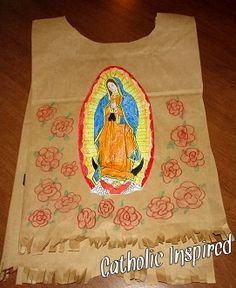 Juan Diego's Paper Tilma for the Feast of Our Lady of Guadalupe