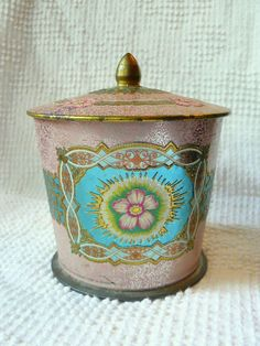 Vintage Canister - (I ❤ these old tin canisters but do you? Yay/Nay? ™)