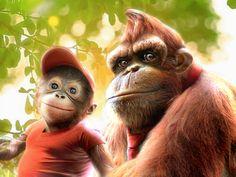 Donkey Kong 'Real Life' by RatGnaw on DeviantArt Donkey Kong Country Returns, Donkey Kong 64, Donkey Kong Junior, Donkey Donkey, Super Smash Bros, Super Mario Bros, Super Nintendo, Diddy Kong, Gamers