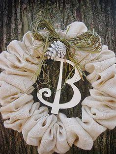 burlap wreath - cute!
