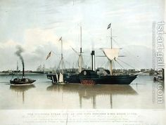 The Paddle-Steamer Victoria, engraved by R.G. Reeve by John Ward