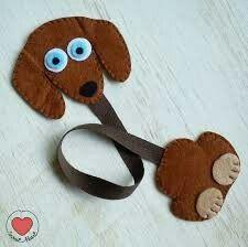 Felt dog bookmark