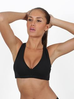 Danica Black Sports Bra Beautiful Brazilian made sports bra. One size fits most (sm/med) Made of Supplex Comfortable for everyday use and any activity Great looking design Quick dry band size: 32-34-36 cup A-B-C-D