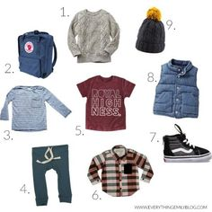 Fall Wear via Everything Emily Boys Fall Fashion, Toddler Boy Fashion, Little Boy Fashion, Toddler Boys, Baby Kids, Baby Boy Outfits, Fall Outfits, Love Clothing, Cute Baby Clothes