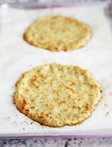 Cauliflower pizza crust baked