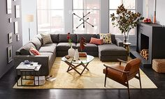 I love the west elm Cozy Loft Living Room on westelm.com/