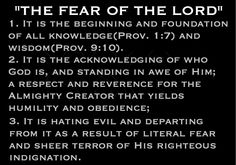 The Fear of the LORD is the key to true knowledge and wisdom.  This doctrine is foundational and found throughout the Scriptures.  The above definition is the result of an extensive study of the doctrine of the Fear of the LORD by examining every occurrence of the phrase or reference to it in the Bible.  God gave me this definition through much study of His Word and prayer for understanding.  I don't believe anyone is ever truly born again without some degree of the fear of the LORD. Bible Doctrine, Bible Scriptures, Prayer For Understanding, God Jesus, Jesus Christ, Book Of Proverbs, Knowledge And Wisdom, In Christ Alone, Fear Of The Lord