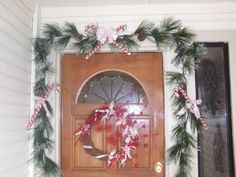 Cute wreath and Garland for door decor.