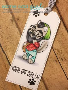 Bearded Hipster Cat Digital Stamp  #SomeOddGirl #DigiStamp #CopicMarkers #Cardmaking #AdultColoring #Crafting #Papercrafts