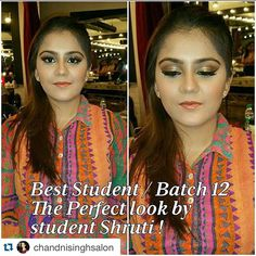 Thank you @chandnisinghsalon for validating my effort and teaching me the art of makeup  #Repost @chandnisinghsalon with @repostapp. ・・・ Congratulations Shruti @worldwilladjust  You #nailedit  Loved every detail of the make up done by you on our model Sakshi.  #makeup #mua #courses #education #procourse #learnitwiththepro #makeupguru #chandnisingh #chandnisinghsalon&academy ✔✔ #newdelhi #india www.chandnisingh.com✔