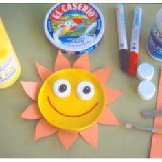 Cómo hacer un sol con un cartón