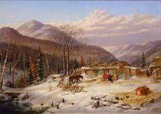 Cornelius Krieghoff The First Snow/Canadian Homestead, c.1856
