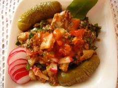 Fotorecept: Šalát zo sleďa a medvedieho cesnaku Y Recipe, Ratatouille, Bruschetta, Food Dishes, Mexican, Ethnic Recipes, Mexicans