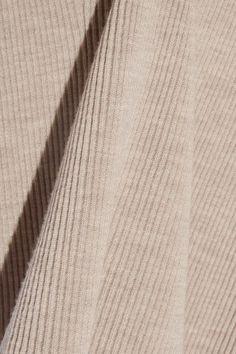 The Row - Brianna Ribbed Wool Turtleneck Top - Mushroom - x small