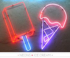 "NEON ""ICE CREAM"" SIGNS ๑෴MustBaSign෴๑"