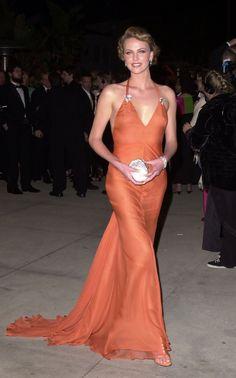 Charlize Theron 2000 Vanity Fair Oscar party