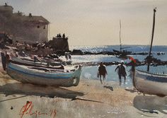 Posted by Carles Pellejero at AM 4 comments: Watercolor Water, Watercolor Landscape, Watercolor Paintings, Joseph Zbukvic, Colouring Pics, Artist Painting, Watercolors, Journey, Colours
