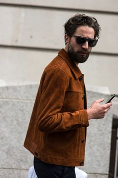 cool LCM Street Style. #brown #jacket