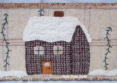 """Tool Box from the 1950's - """"Tool Box turned Wool Box""""  Wool Applique on side of Tool Box  O..."""