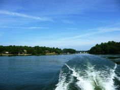 Lake Norman's 520 miles of shoreline has lots of beautiful, mature trees which almost hid the waterfront homes!