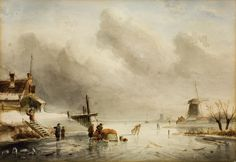 Charles Leickert, WINTER LANDSCAPE, Auction 939 Old Masters, Lot 1239