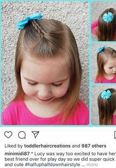 Toddler Hair Dos, Easy Toddler Hairstyles, Easy Little Girl Hairstyles, Girls Hairdos, Baby Girl Hairstyles, Cute Hairstyles, Toddler Girls, Hair Beauty, Hair Styles