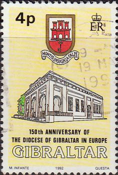 Gibraltar 1992 Anglican Diocese Fine Mint SG 684 Scott 620 Other Gibraltar Stamps HERE