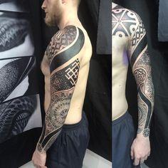 Новости татуировки geometric sleeve tattoo, mandala tattoo d Mandala Brust Tattoo, Mandala Tattoo Sleeve, Geometric Mandala Tattoo, Mandala Tattoo Design, Full Sleeve Tattoos, Tattoo Designs, Sky Tattoos, Tatoos, Ukrainian Tattoo