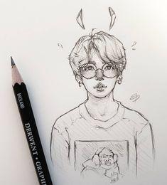 Lmao the shirt Jungkook Fanart, Kpop Fanart, Kpop Drawings, Fan Art, Aesthetic Art, Drawing Reference, Cute Art, Art Inspo, Art Sketches