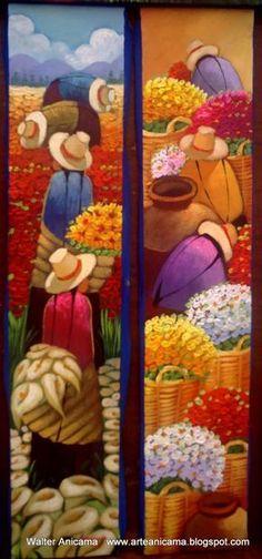 campo 6 Más Cuban Art, Silk Art, Happy Art, Indigenous Art, African American Art, Mexican Folk Art, Fabric Painting, Beautiful Paintings, Figurative Art