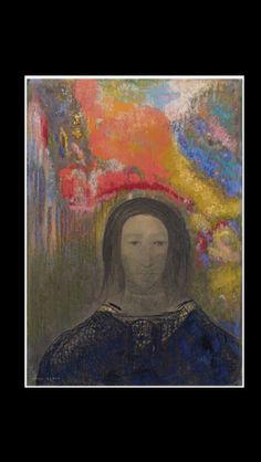 """Odilon Redon - """" Rêverie """", c. 1900 - Pastel et fusain sur papier - 54,5 x 37,8 cm"""