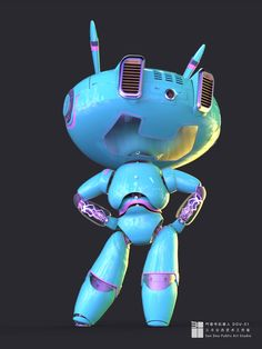 by Teng xianzhuo on ArtStation. Robot Design, Game Design, 3d Character, Character Design, Robot Concept Art, Game Logo, Figurative Art, Dungeons And Dragons, Cyberpunk