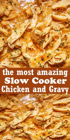 Slow Cooker Chicken and Gravy 5 from 24 votes Chicken and gravy cooked in the slow cooker together, great over mashed potatoes. Slow Cooker Huhn, Slow Cooker Recipes, Crockpot Recipes, Chicken Recipes, Cooking Recipes, Chicken Meals, Copycat Recipes, Vegetarian Recipes, Crockpot Chicken And Gravy