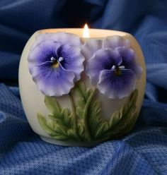 Ibis & Orchid Pansy Votive