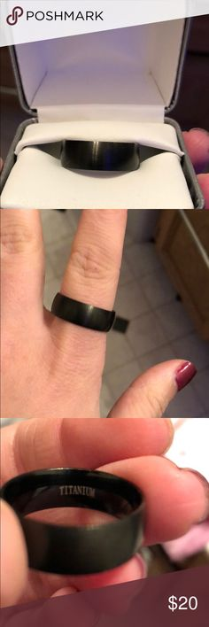 Black matte titanium ring size 10 Never worn. No scratches or wear. Brand new. Titanium ring. Matte black finish. Jewelry Rings