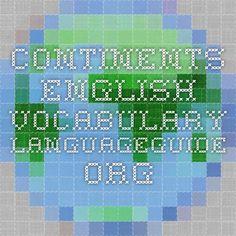 Continents - English Vocabulary - IWB activity.