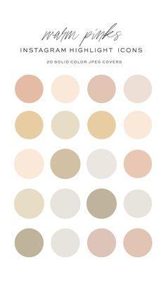 Colour Pallete, Colour Schemes, Neutral Color Palettes, Neutral Colors, Paint Color Palettes, Color Trends, Color Combos, Pink Instagram, Instagram Story