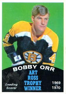 Bobby Orr of the Boston Bruins. 1970-71 O-Pee-Chee Art Ross Trophy winner.
