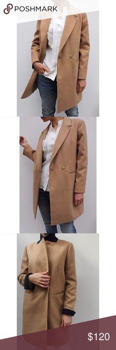 Topshop Beige camel pea coat Topshop pea coar. US size 2 Topshop Jackets & Coats Pea Coats