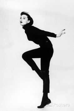 """Audrey Hepburn. """"Funny Face"""" 1957, Directed by Stanley Donen Photographic Print at AllPosters.com"""