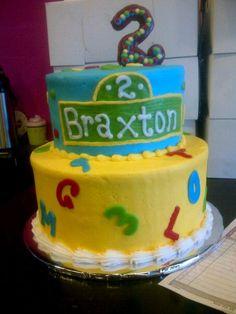 Sesame Street Birthday Cake Sesame Street Birthday Cakes, Sesame Street Cake, 2nd Birthday, Birthday Ideas, Birthday Parties, Birthdays, Party Ideas, Desserts, Baby